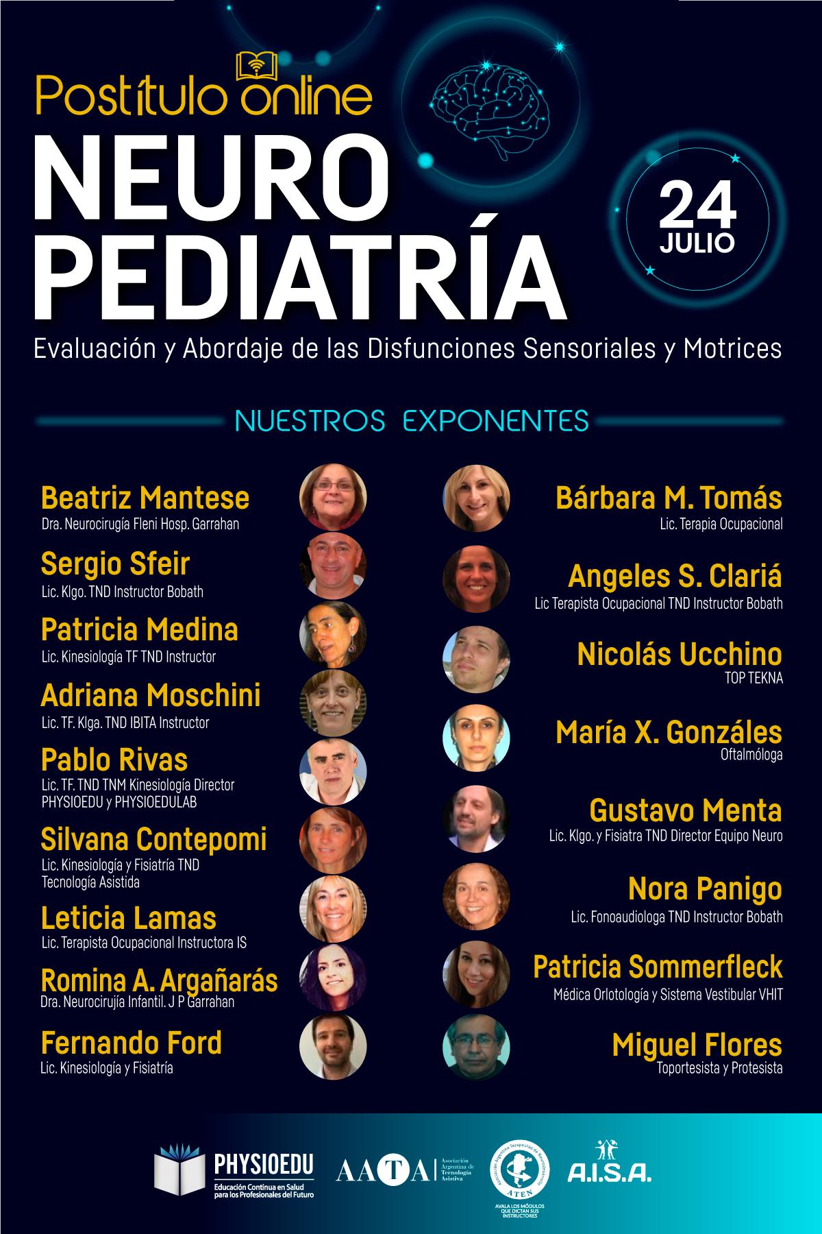 flyer Postitulo Neuropediatría