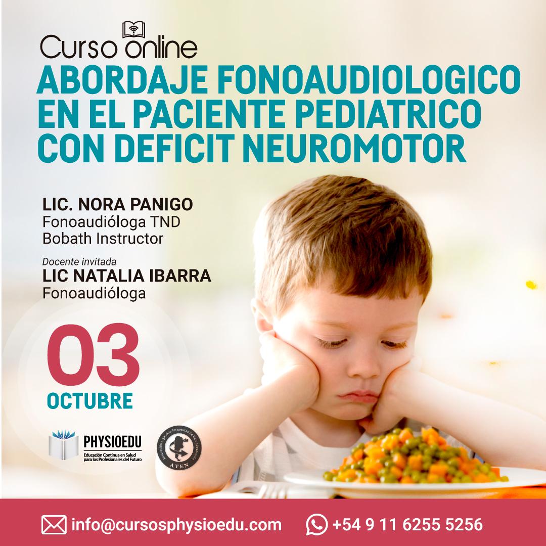 Flyer Abordaje  Fonoaudiológico en el paciente pediátrico con déficit neuromotor Octubre
