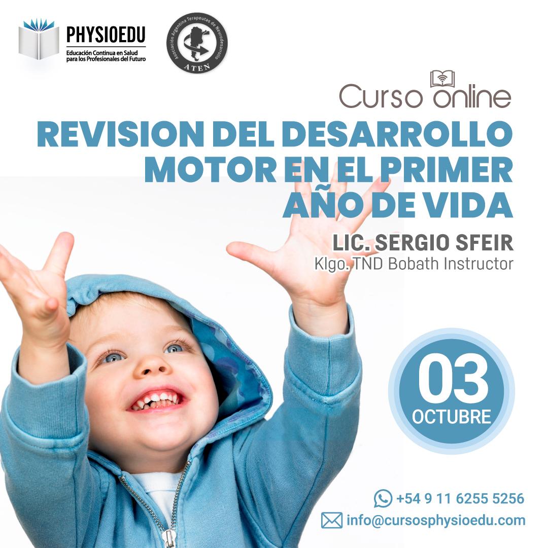 Flyer Revisión del Desarrollo Motor en el Primer Año de Vida Octubre