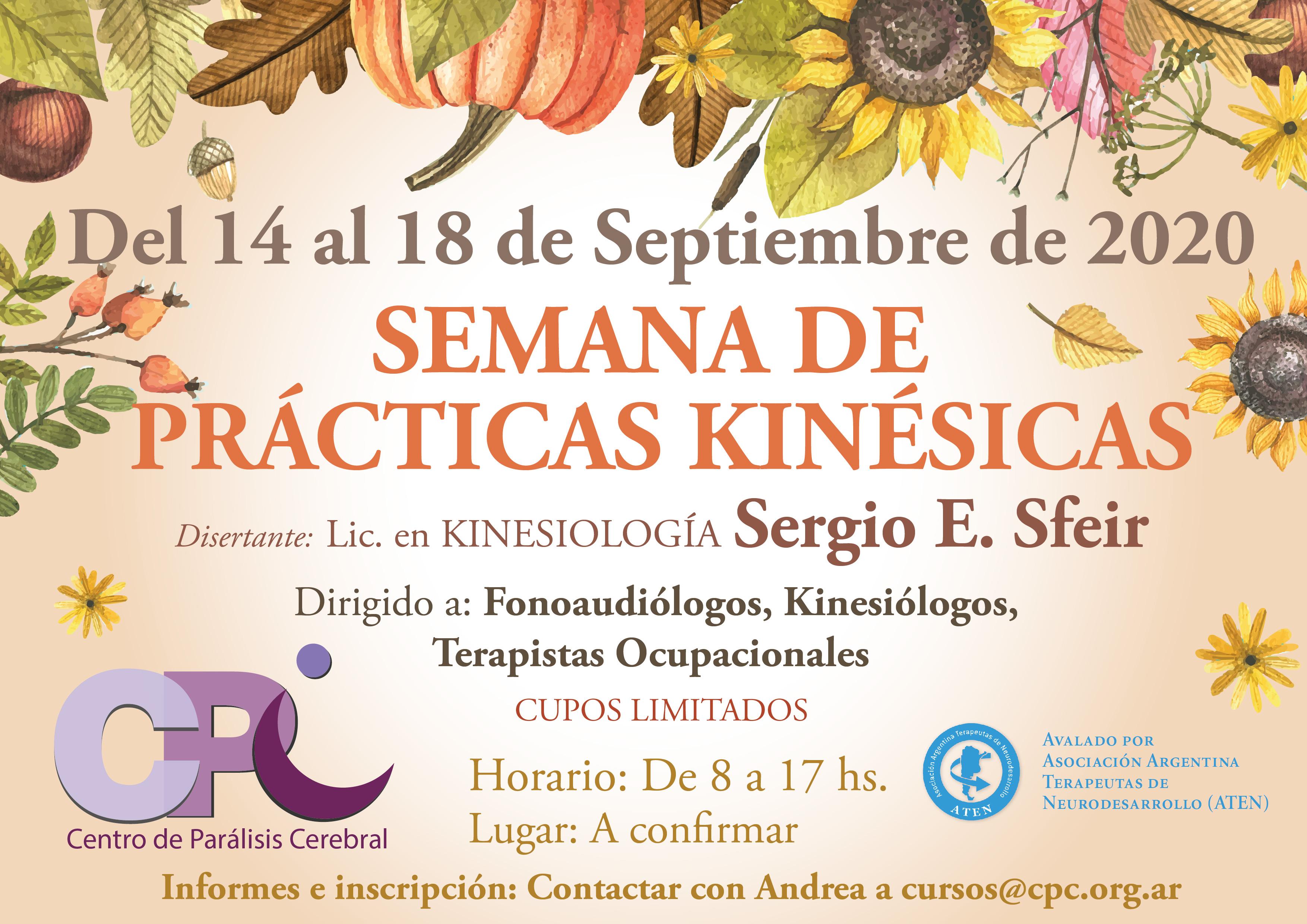 Flyer Semanas de Prácticas Kinésicas en Parálisis Cerebral