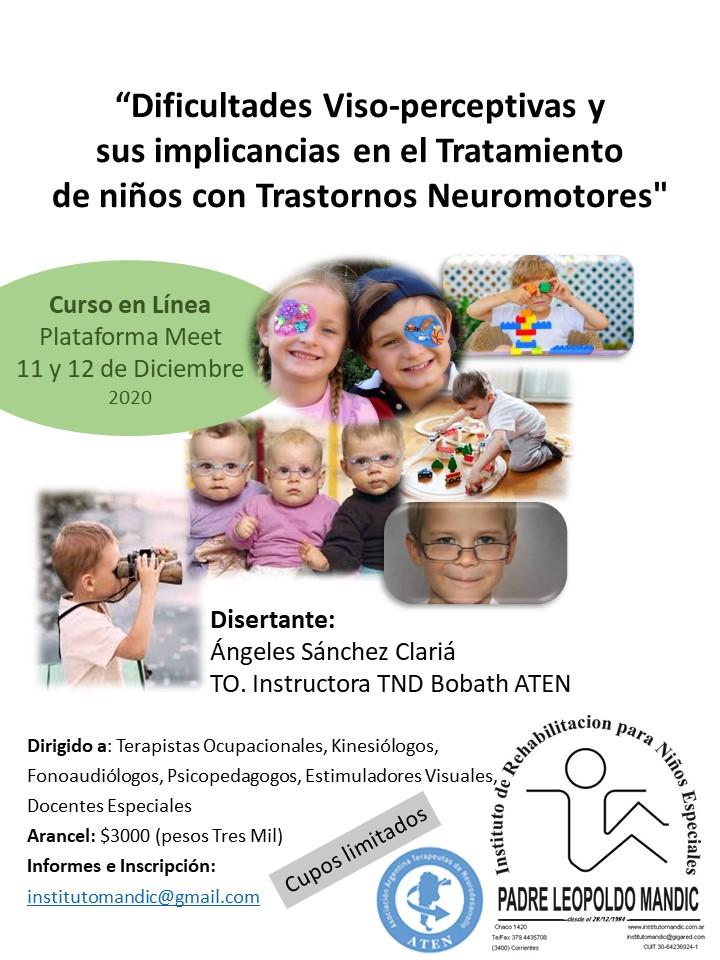 Flyer Dificultades Viso-perceptivas y sus implicancias en el Tratamiento de niños con trastornos Neuromotores