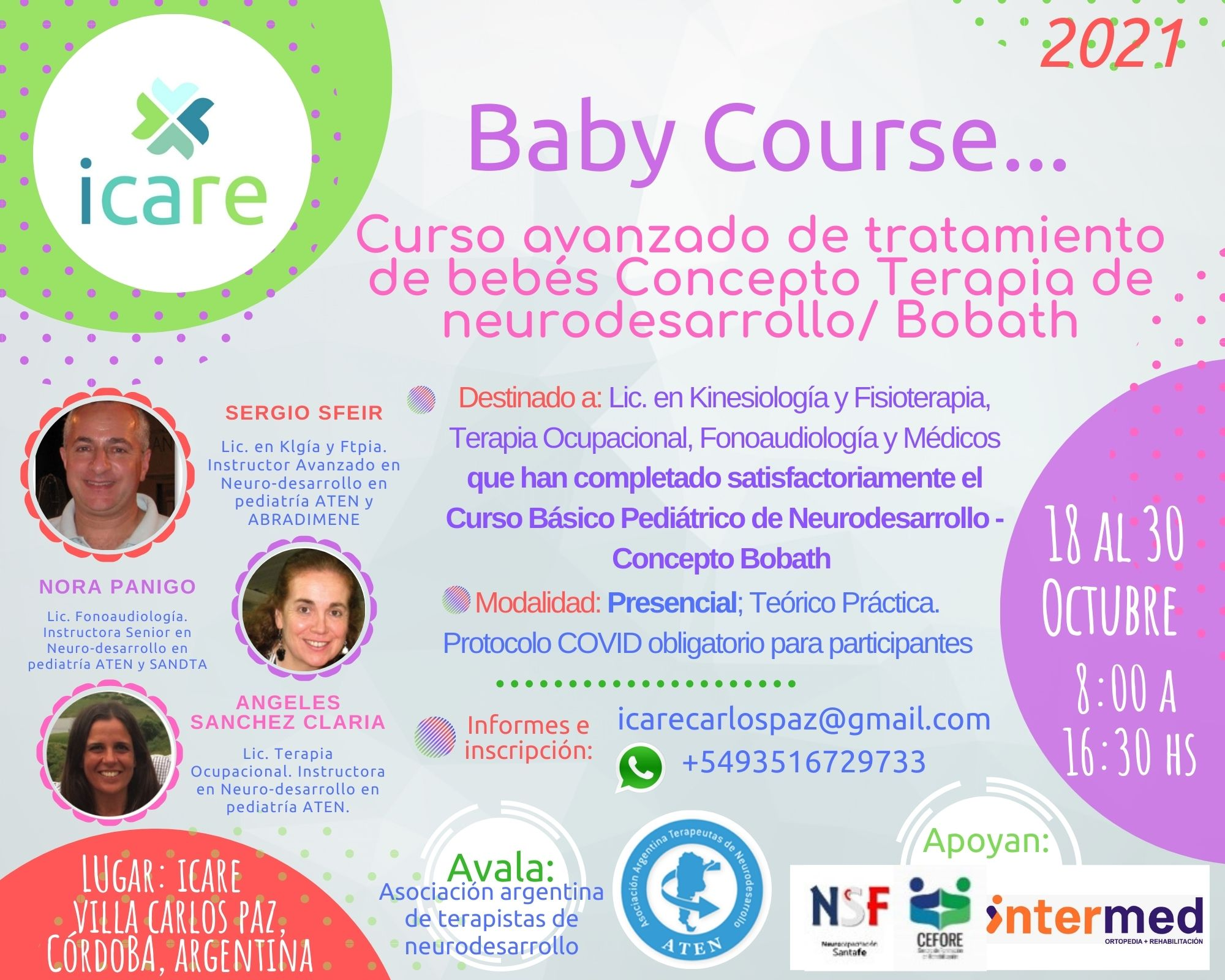 flyer Baby Course Icare