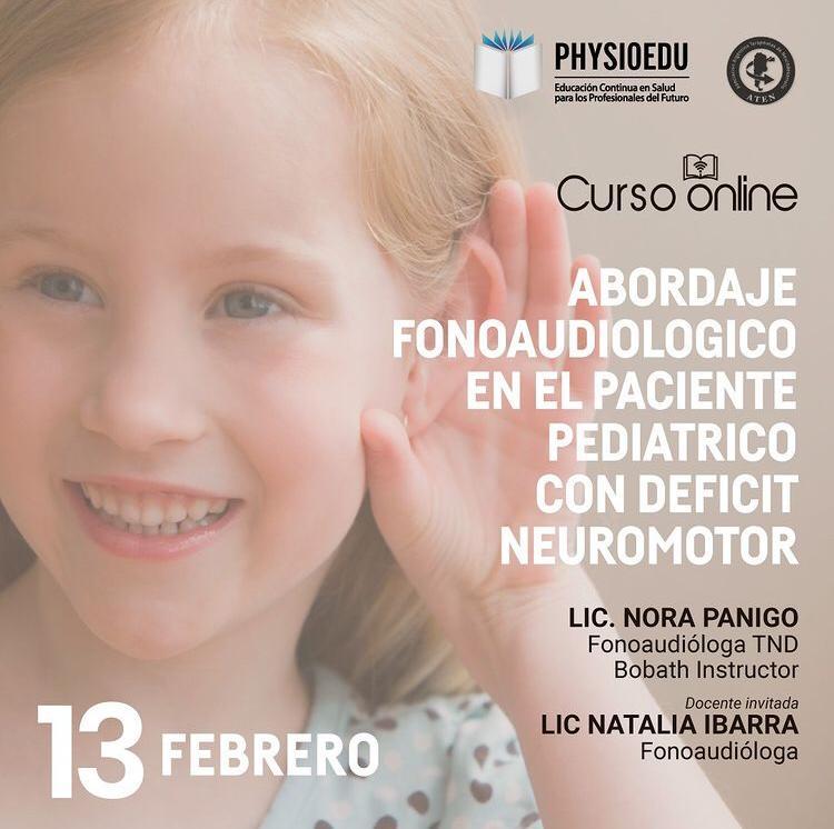 Flyer Abordaje  Fonoaudiológico en el paciente pediátrico con déficit neuromotor febrero 2021