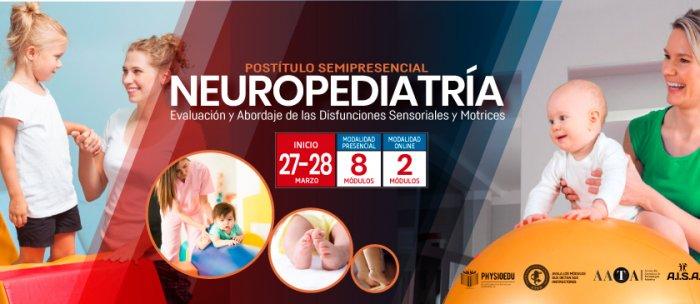 Flyer CursoPostítulo Semipresencial en Neuropediatría