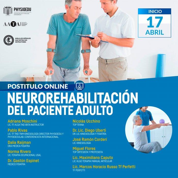 Flyer Postítulo Neurorehabilitación del Paciente Adulto