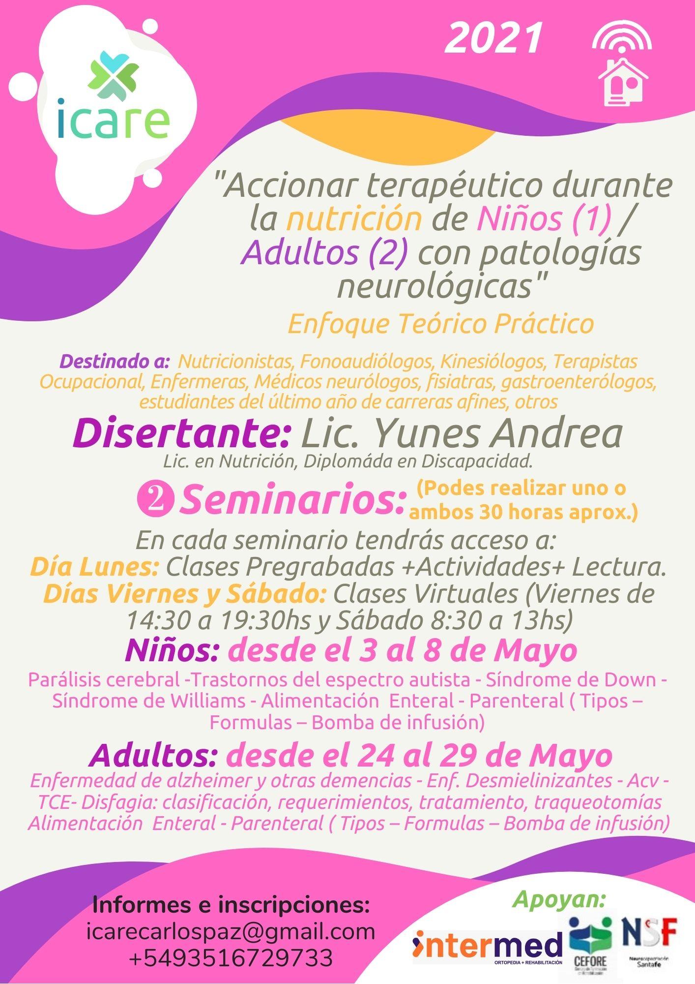 flyer Icare nutrición