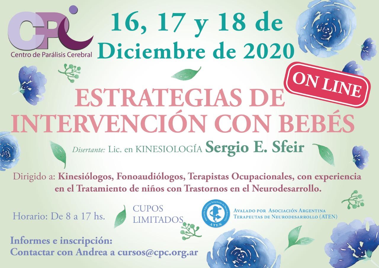 Flyer Estrategias de Intervención con Bebés