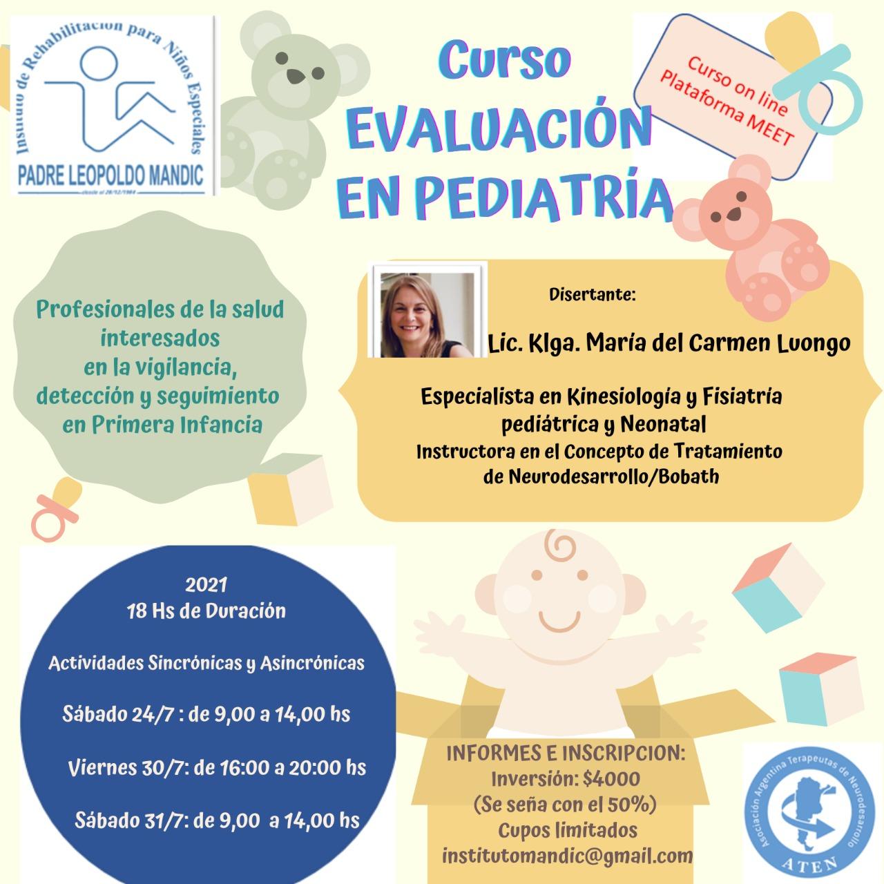 Flyer evaluación en Pediatría Mandic